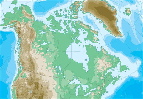 Digital Canada Contour Contour map in Adobe Illustrator vector format