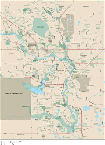 Calgary Map Adobe Illustrator vector format CGY-XX-985384