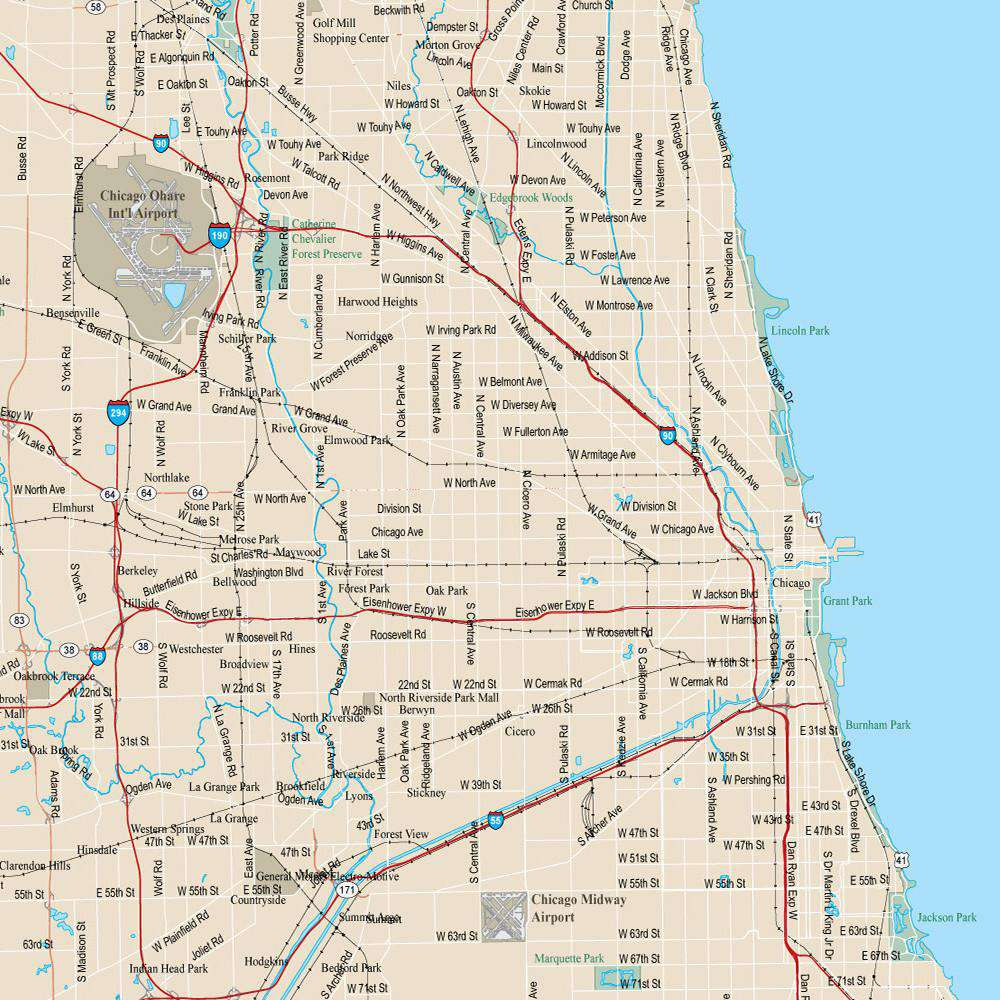 Chicago Vector Map – Map Resources