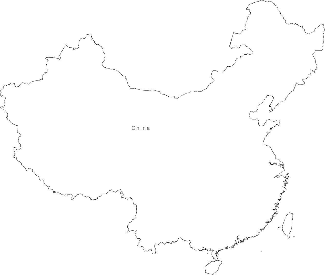 Digital China Map for Adobe Illustrator and PowerPoint/KeyNote