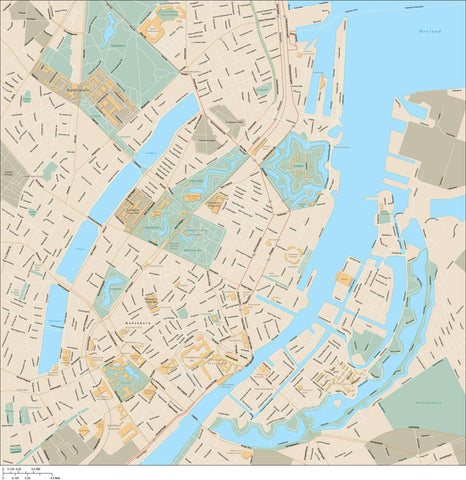 Copenhagen Map Adobe Illustrator Vector Format COP-XX-985400