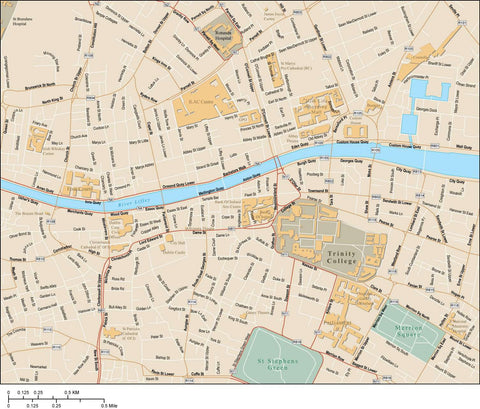 Dublin Map Adobe Illustrator Vector Format DBL-XX-985358