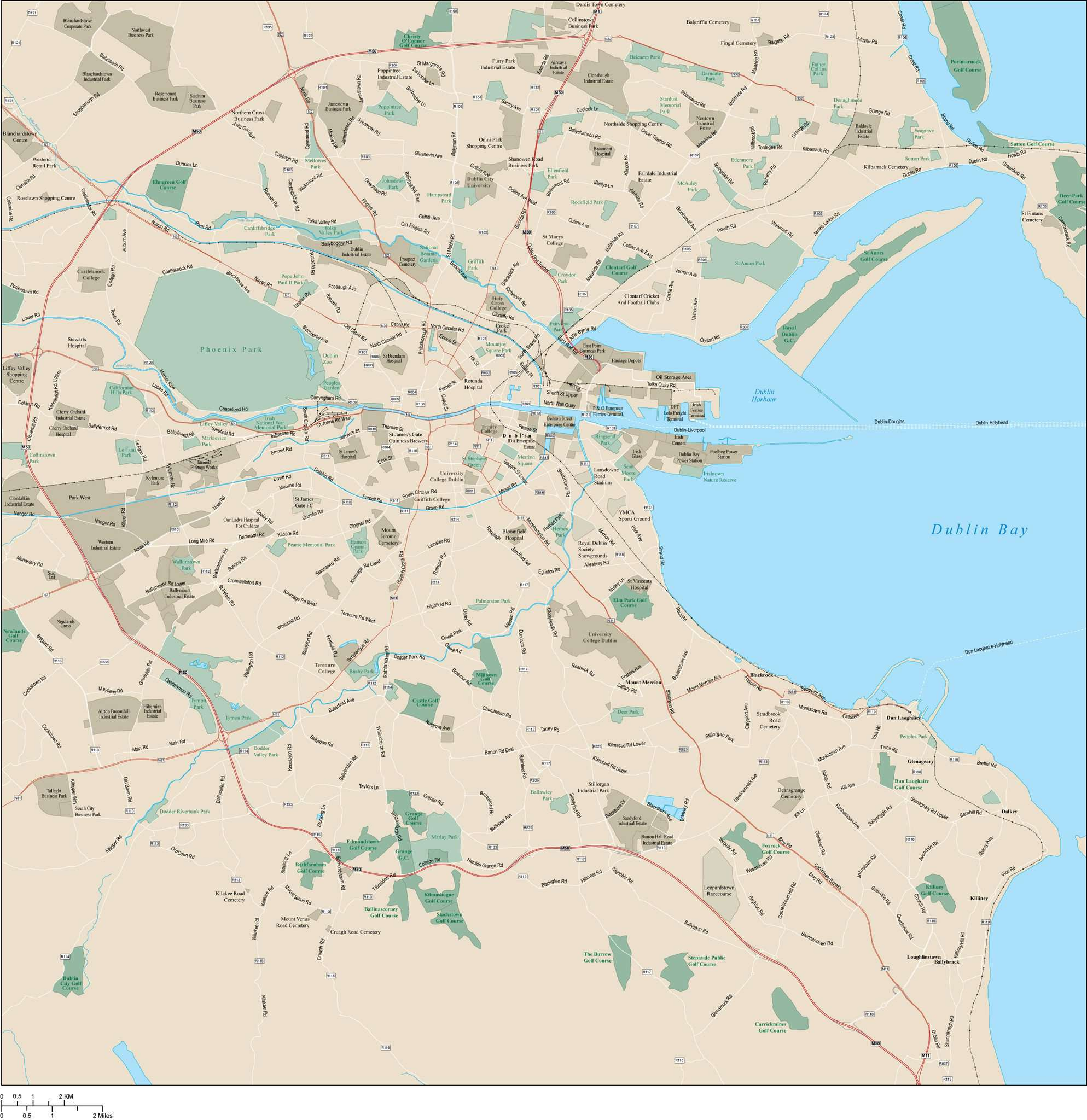 Dublin Map Adobe Illustrator vector format – Map Resources on
