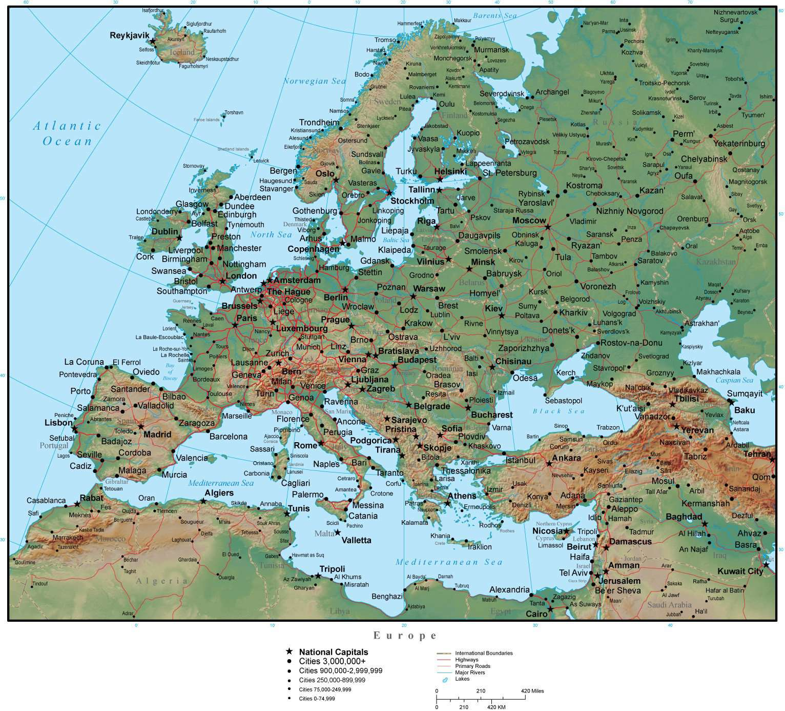 Europe Continent Map Illustrator Vector With 300 Dpi Psd Terrain