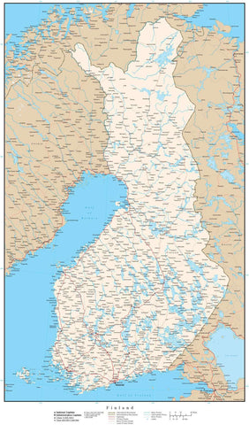 Finland Map - High Detail