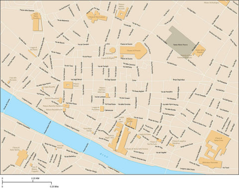 Florence Map Adobe Illustrator vector format FLC-XX-985397