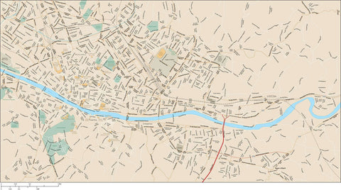 Florence Map Adobe Illustrator vector format FLC-XX-985562