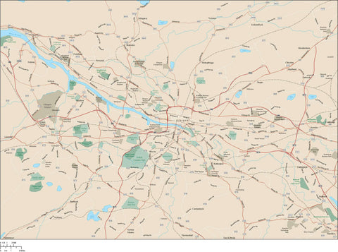 Glasgow Map Adobe Illustrator vector format GSW-XX-985346