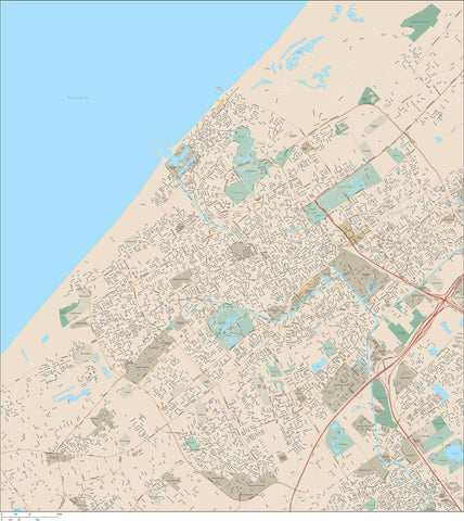 The Hague Netherlands Map - 72 square miles - with Local Streets