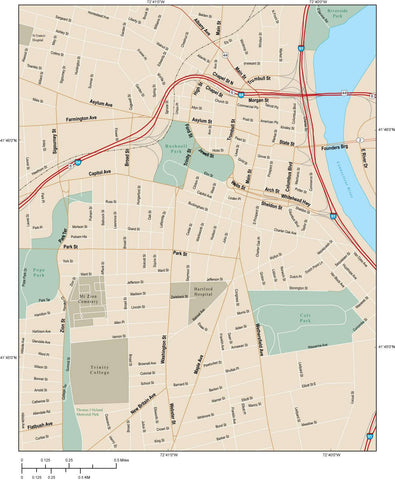 Hartford Map Adobe Illustrator vector format HRT-XX-984809