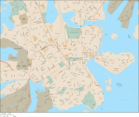 Helsinki Map Adobe Illustrator Vector Format HSK-XX-985403