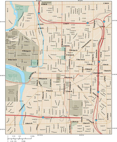 Indianapolis Map Adobe Illustrator vector format IND-XX-984785