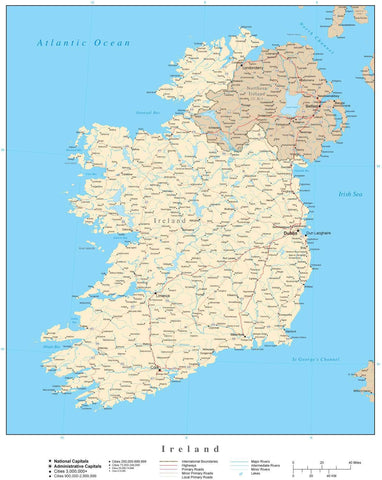 Ireland Map - High Detail