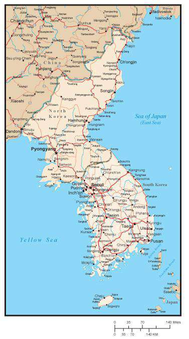 North and South Korea Map with Major Cities and Roads on greenland country map, togo country map, apac country map, u.s. country map, kyrgyzstan country map, burkina faso country map, mid east country map, china country map, persian gulf country map, dominica country map, botswana country map, middle america country map, ww1 country map, bahamas country map, worldwide country map, korean culture country map, turkmenistan country map, uzbekistan country map, turkestan country map, pyongyang country map,