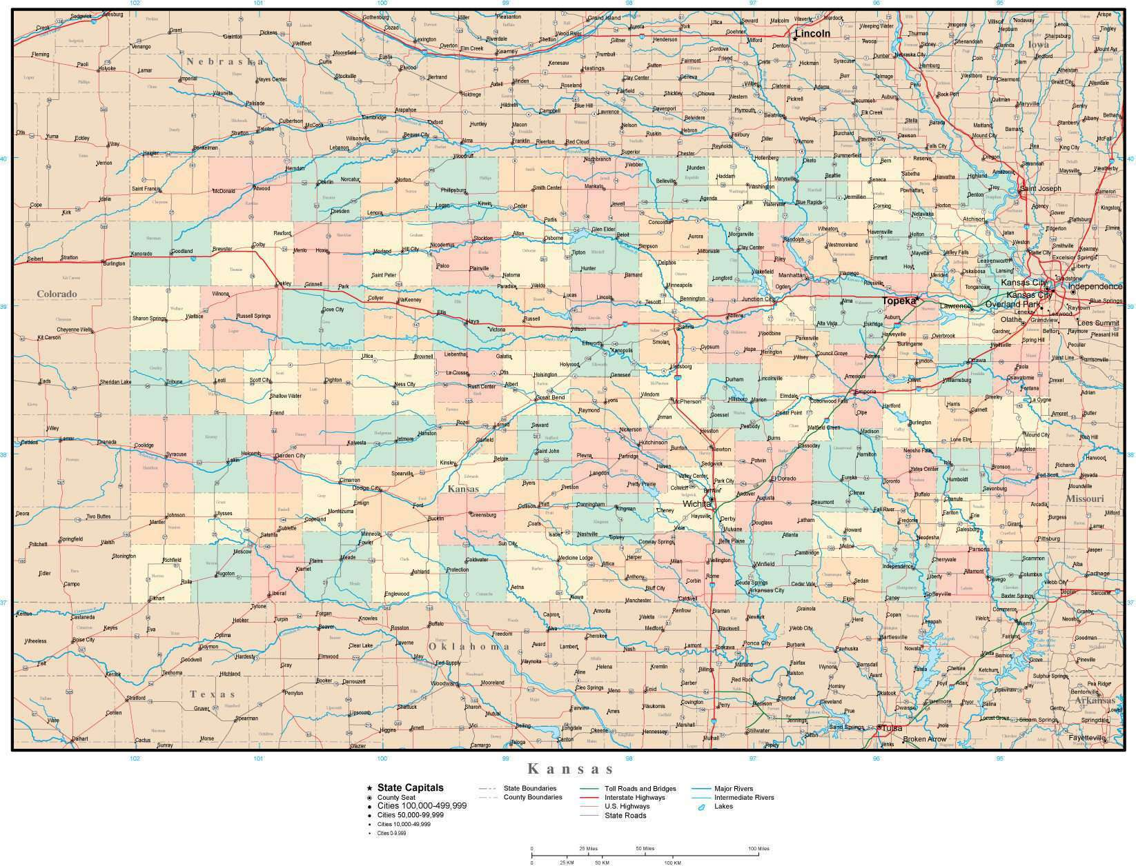 Kansas Map with Counties, Cities, County Seats, Major Roads, Rivers on kansas state map postcard, kansas main cities, kansas counties and cities list, kansas state major cities, kansas map with all cities, state of kansas cities, alabama county map of counties and cities, kansas with capital, va maps with counties and cities, kansas counties and county seats, printable kansas map with cities, ks map with cities, kansas map with all counties, kansas information, kansas state product map, kansas county plat maps, kansas map with cities only, kansas county map with cities, kansas state map kansas,