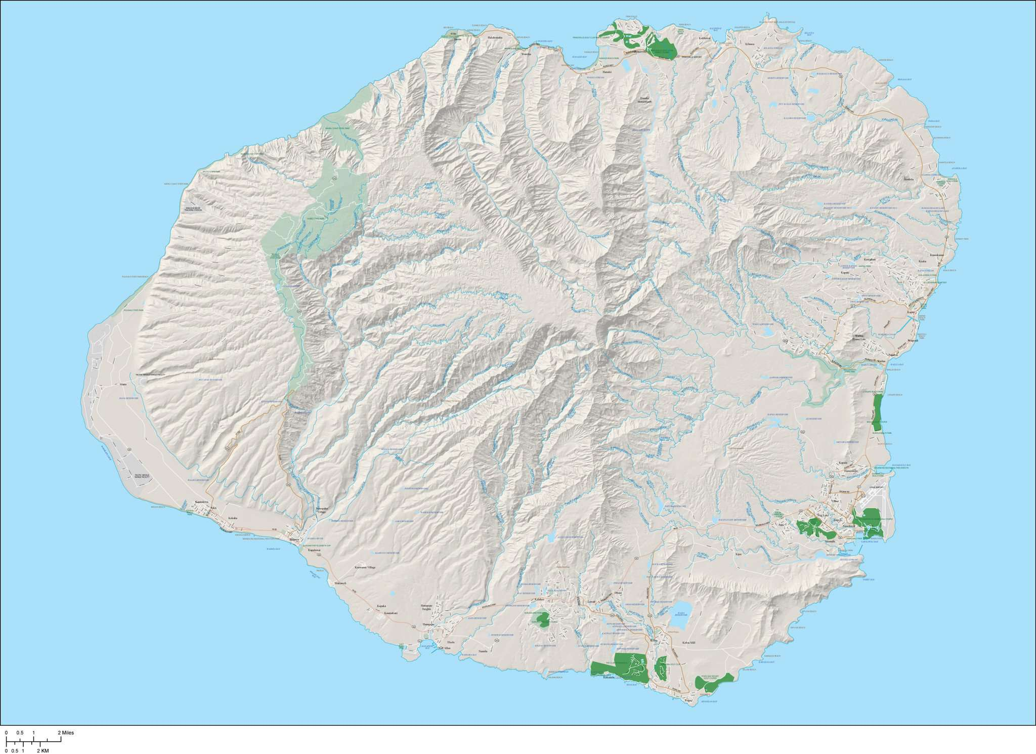 Kauai Island HI Map with All Local Streets Plus Terrain on molokai island map, corpus christi island map, kauai hawaii, kihei island map, kauai places to visit, rome island map, new orleans island map, oahu map, kilauea map, lanai island map, mississippi island map, oregon island map, connecticut island map, ohio island map, lihue island map, maui island map, virginia island map, myrtle beach island map, san jose island map, hawaii map,