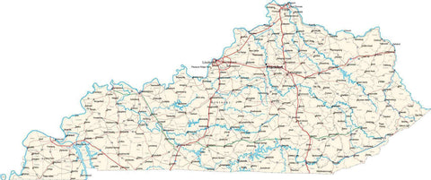 Kentucky State Map - Cut Out Style - Fit Together Series