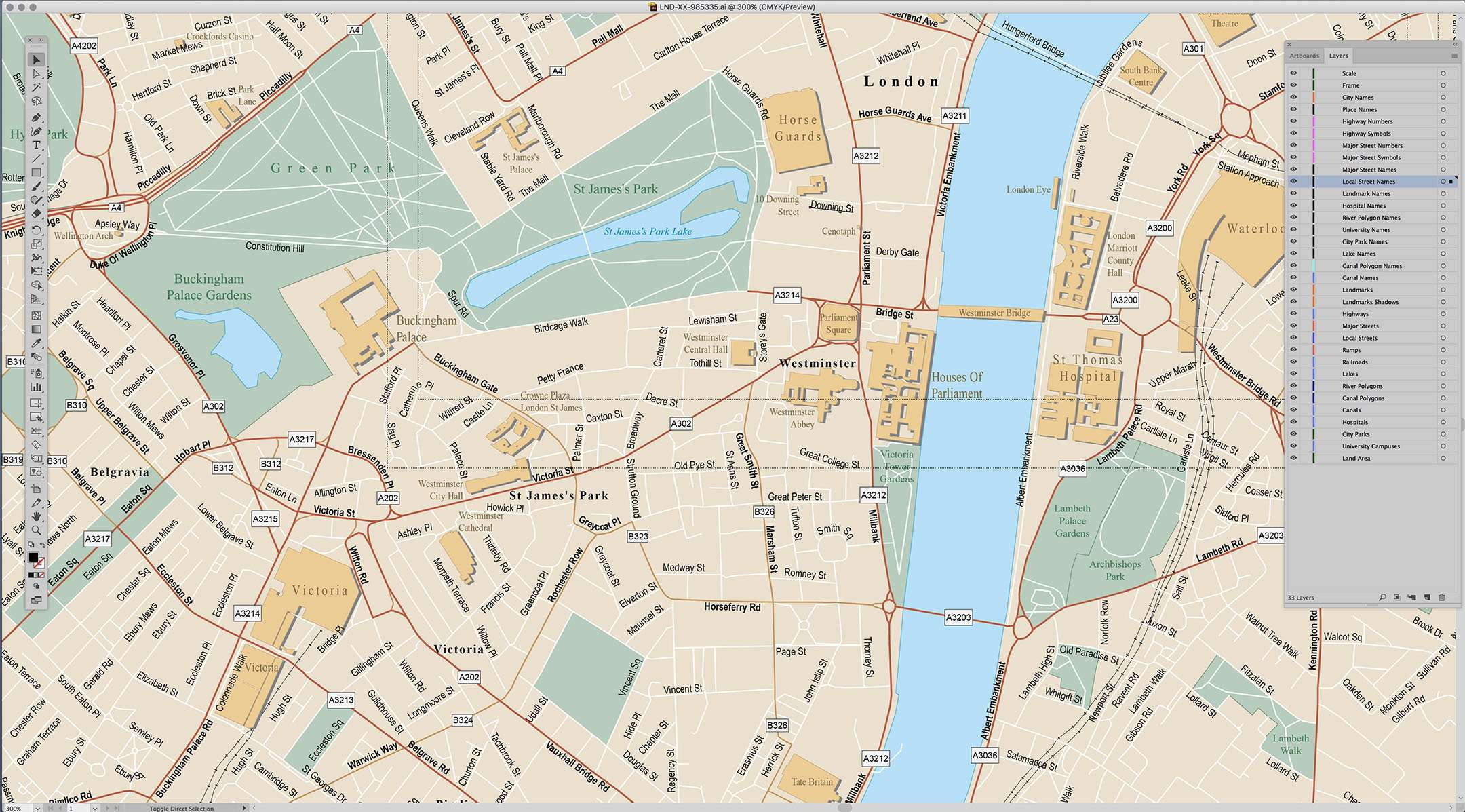London In England Map.London England Map City Center With All Local Streets