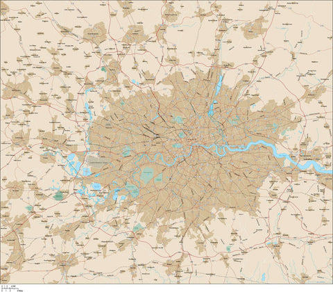 London Map Adobe Illustrator vector format LND-XX-985337