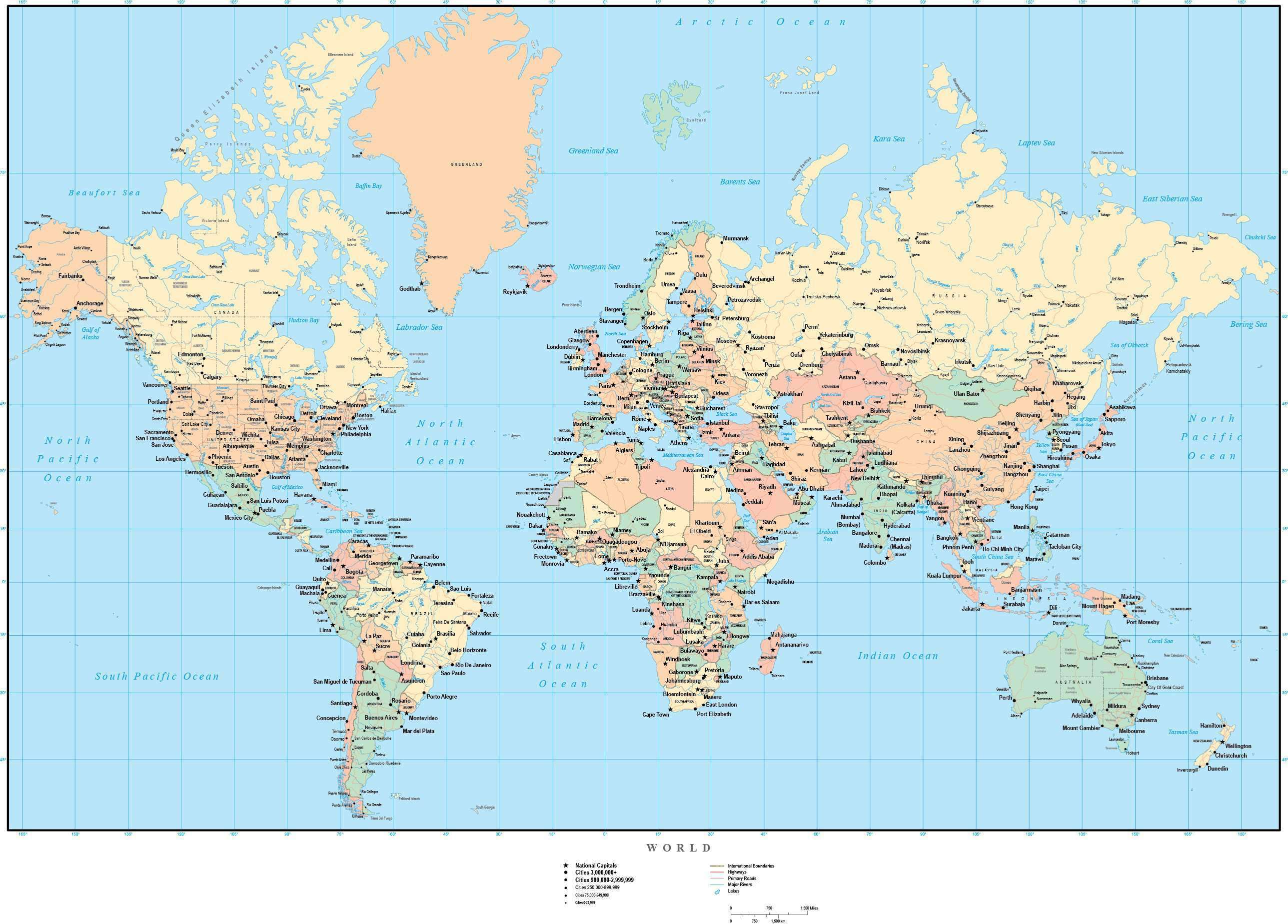 Picture of: Usa Canada Map With States And Cities