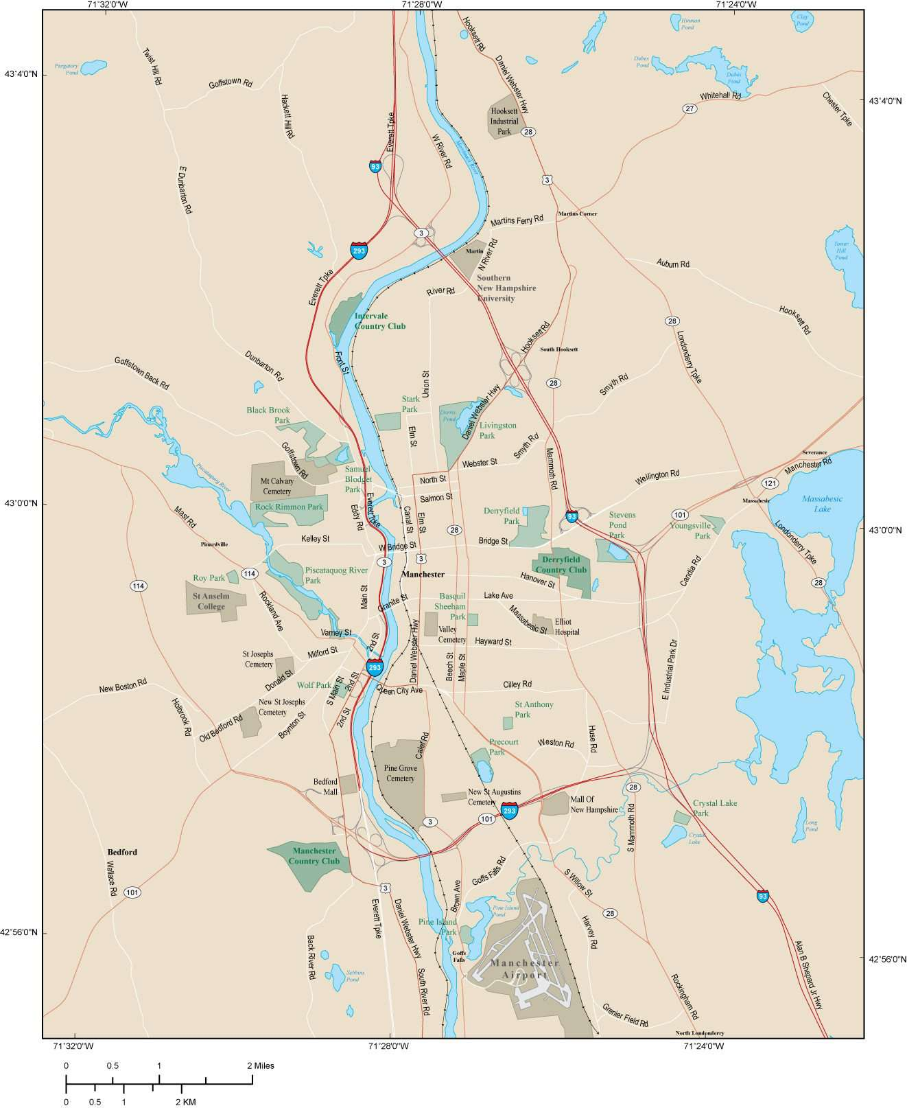 Manchester NH Map - Metro Area with Major Roads on map of southern new hampshire, map of strafford county new hampshire, map of wolfeboro new hampshire, map of kentucky, map of maryland, map of new hampshire towns, map of cheshire county new hampshire, map of cl, map of white mountains, map of connecticut, map of gh, map of vt, map of ny, map of ma, map of me, map of charlestown new hampshire, map of nm, map of great north woods, map of canada, map of nc,
