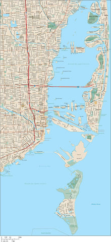 Miami Map Adobe Illustrator vector format MIA-XX-985162