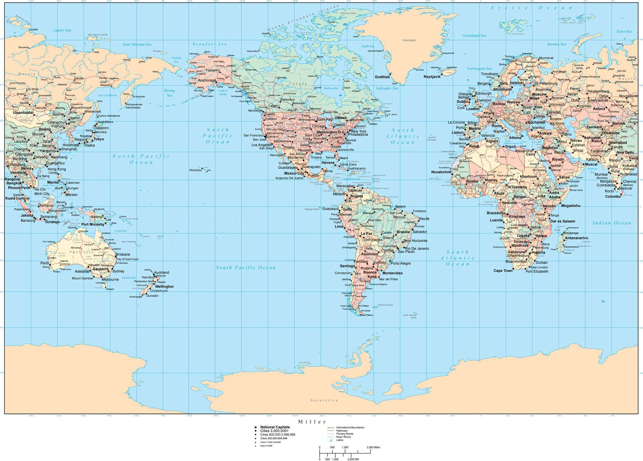 Aden World Map.World Map Americas Centered Miller Projection Map Resources