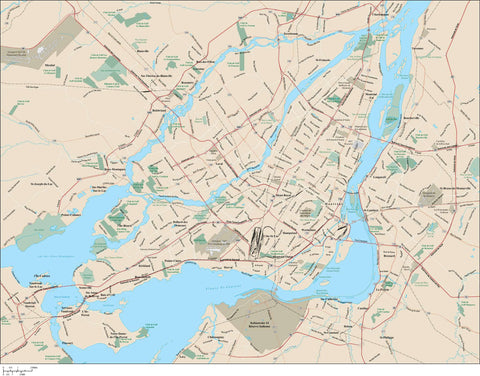 Montreal Vector Map MNT-XX-985366