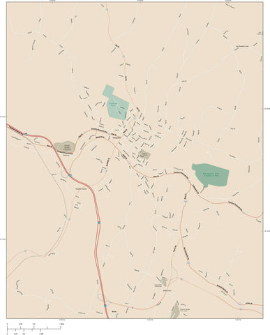 Montpelier Map Adobe Illustrator vector format Map Resources