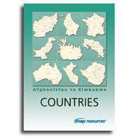 Country Maps with Cities and Major Highways - Afghanistan to Zimbabwe