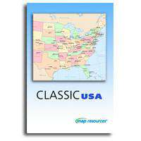 Classic USA - State Maps with Counties, Capitals, and Major Cities