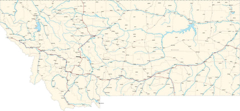 Montana State Map - Cut Out Style - Fit Together Series