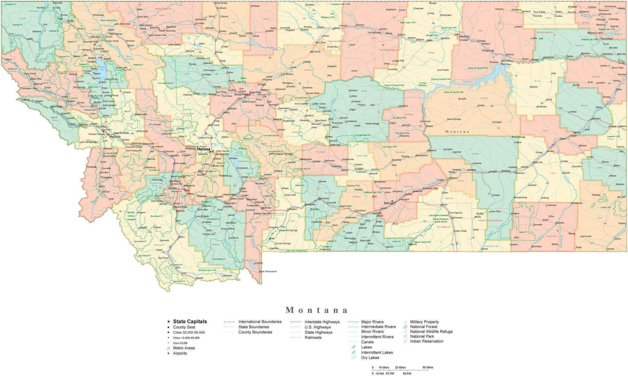 Detailed Montana Cut-Out Style Digital Map with Counties, Cities, Highways, on contour map of montana, city map of wisc, city map of northern michigan, city map of western usa, transportation of montana, city map of great falls, city map of northern kentucky, city map of oakland, city map of jamaica plain, city map of dillingham, city map of jamestown, city map of northern minnesota, city map of eastern nc, bing map of montana, city map of appalachian mountains, city map of eastern tennessee, city map of southern florida, city map of texas, city map of the carolinas, city map of iowa city,
