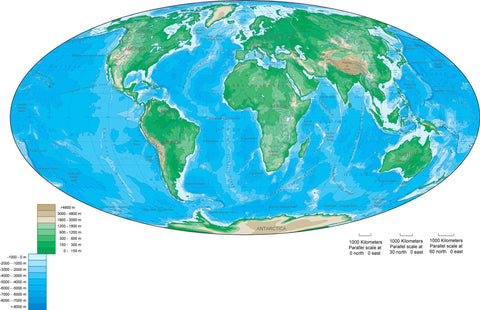 Digital World Contour map in Adobe Illustrator vector format.