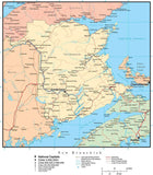 New Brunswick Province Map