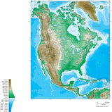 Digital North America Contour map in Adobe Illustrator vector format.