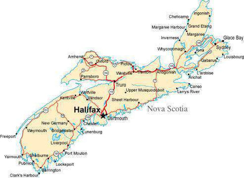 Nova Scotia Province Map - Fit-Together Style
