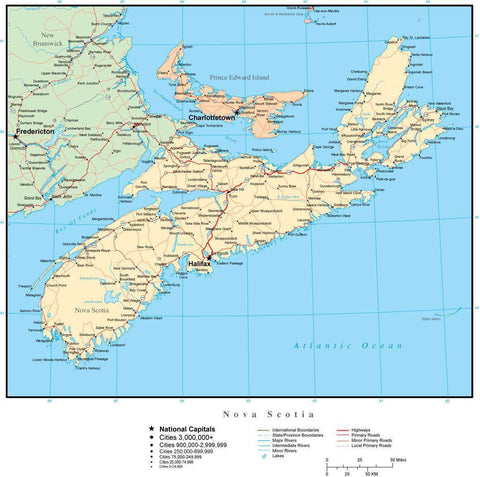 Nova Scotia Province Map