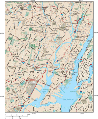 Newark Map Adobe Illustrator vector format NWK-XX-984810
