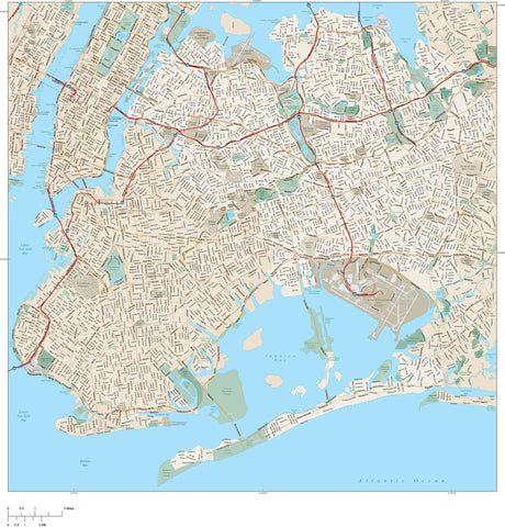 Queens Vector Map Adobe Illustrator Vector Format NYC-XX-983810