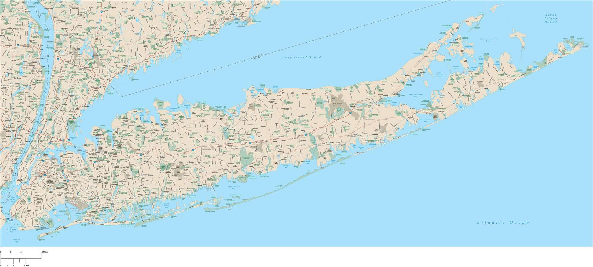 Long Island, NY Map with Major Roads on the bronx, long island map showing towns, suffolk county long island map, long island wantagh, antique long island map, long island herricks, new york map, new york city, nassau county, long island rail map, long island lirr map, washington dc map, long island buffalo, nassau county long island map, new york metropolitan area, suffolk county, long island new york, staten island, long island map view, long island sound, coney island, long island town names, long island bronx map, long island railroad map, long island connecticut map, times square, battle of long island, long beach, long island potato fields, long island boston map, ellis island, north shore long island map, hudson river, brooklyn bridge,