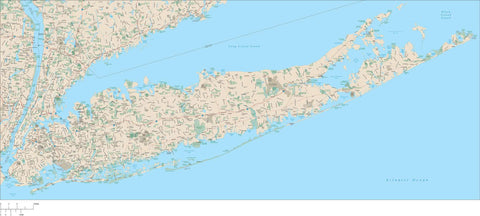 Long Island, NY Map with Major Roads