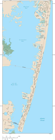 Ocean City Map Adobe Illustrator Vector Format OCY-XX-985179