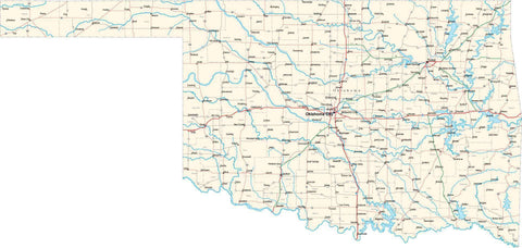 Oklahoma State Map - Cut Out Style - Fit Together Series