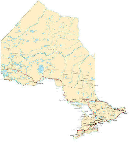 Ontario Province Map - Fit-Together Style