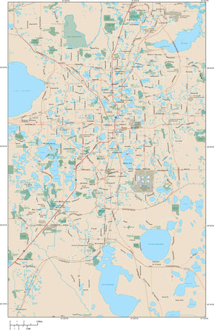 Orlando Map Adobe Illustrator vector format ORL-XX-983997