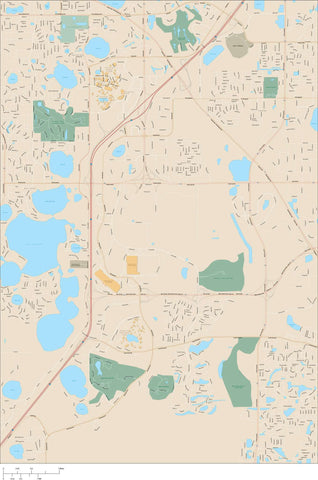 Orlando Map Adobe Illustrator vector format ORL-XX-985126