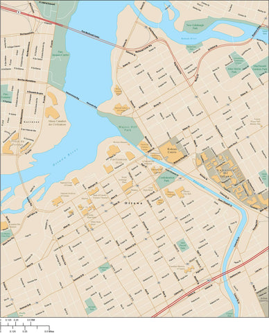 Ottawa Map Adobe Illustrator Vector Format OTT-XX-985369