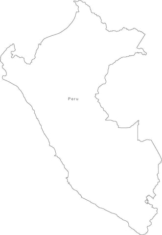 Digital Peru map in Adobe Illustrator EPS vector format
