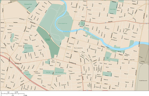 Parramatta Map Adobe Illustrator Vector Format PRM-XX-985434